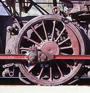 detail of a class 52 steam loco